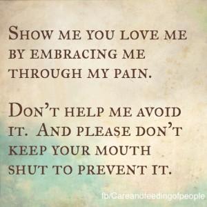 Show me you love me